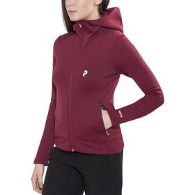 Peak Performance Sizzler Zip Hood Damen cabernet